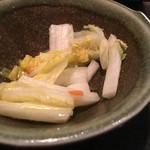 北海道しゃぶしゃぶ ポッケ - 白菜の漬物