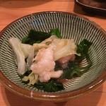 炊き餃子・手羽先 オクムラ - モツ鍋(煮えた)