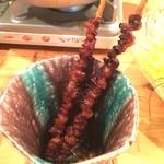 炊き餃子・手羽先 オクムラ - とり皮