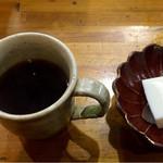 くまさんの台所 - セットのコーヒーとデザート