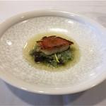 Le Ciel - 脂が乗った金目に米とブイヨンが繋ぎになって鴨のレバーやハツが出会う。肉のような強い魚料理。