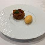 Le Ciel - 温かい柿のタルトタタン、柿のソルベと