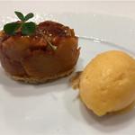 Le Ciel - 火を入れた蜜のような味の柿とフレッシュ感のある柿のソルベが絡む。