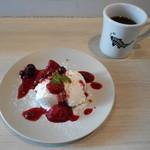 62089800 - 自家製レアチーズケーキのドリンクセット♡