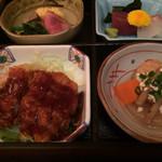 和・菜・肴 千とせ家 - 松花堂弁当の一部