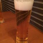 和・菜・肴 千とせ家 - 取り敢えずの生ビール
