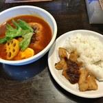 gopのアナグラ - 料理写真:「チキンと野菜」980円&「白身魚のサンバルかけ」420円