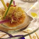 62098543 - 長野県産菊芋のムース 北海道産生うに昆布のジュレ