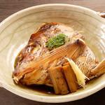 神楽坂 割烹 越野 - 鯛かぶと煮付け