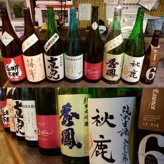 季節の日本酒各種