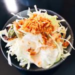 Curry Dining MOMO - サラダ レタスも少々乗っている!