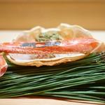 62108007 - 焼き松葉蟹と蟹味噌