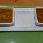 62109813 - チキンカレーと野菜カレー