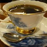 自家焙煎珈琲工房 カフェ バーンホーフ - 大倉陶園ブルーローズのカップ