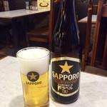 ヨコイ - ジェントルマンセットのビール(中瓶)。