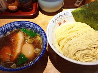 神田 勝本 - 味玉清湯つけそば 930円