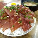 マルトマ食堂 - マグロ漬け丼700円+大盛100円