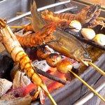 ひな鳥山 - 料理写真:備長炭でいろり焼き