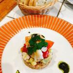 バールアリメンターリ ダニエラ - オマール海老と大麦のサラダ仕立て