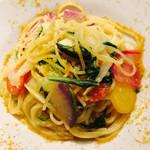nR table - カラスミとお野菜のペペロンチーノ