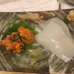 寿司辰 - ウニ、イカ