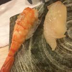 寿司辰 - エビ、平目