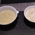 62124149 - 卵チャーハンとスープ♪