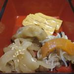 旬処味空間 - 大根の煮浸し、豚肉と春雨のイタリアン風サラダ、出汁巻き玉子アップ