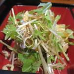 旬処味空間 - 水菜とキャベツ、ニンジンのサラダアップ