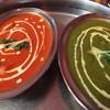 スワディスタ - 料理写真:バターチキンとバラックパニール(ほうれん草とホワイトチーズ)のカレー