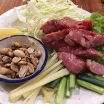 62125088 - アムリタ食堂(ネーム/Thai東北地方の酸味ソーセージ)