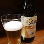割烹 黒ねこ - 瓶ビール700円