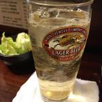 居酒屋 おんざびーと - 角ハイボールとお通し 2017.2