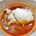 サバイ ジャイ タイランド - トムヤムクン(スープに餅米を入れて)