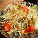 神楽坂 料理 やま本 - 青紫蘇ドレッシングのキャベツサラダ