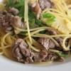 ポルコロッソ - 料理写真:牛肉とピーマンと筍が具のパスタ