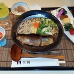 京料理 三門 - にしんそばセット+デザート