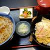 """砂場 - 料理写真:""""玉子丼とあったかいおそば"""""""