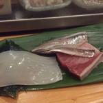 寿し 甚きち - (2013年2月)ヤリイカ、鰤、酢〆のイワシ