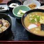 山賊旅路 - だご汁定食(山賊めし)1,250円