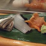 寿し 甚きち - (2013年7月)小肌、ヤリイカ、赤貝