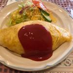 ブイヤベース - 料理写真:オムライス550円+大盛り50円