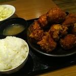 鶏千 - から揚げてんこ盛り定食(カレー)