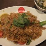 ティーヌン - 2014/6/8 タイ野菜カナー菜のチャーハン