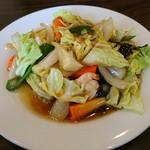 上海料理 順福園 - 料理写真:日替り(エビと新鮮な野菜炒め)アップ