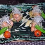 精進 庵 - 鶏と茄子のチーズ田楽