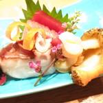 赤坂あじさい - 造り4種盛り 水蛸 ツブ貝 鮪赤身 中トロ