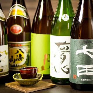 獺祭や地酒飲み放題など日本の銘酒を割烹料理と共に…