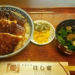 うなぎ料理 はし家 - 上うなぎ丼2,340円(税込)鰻4切と肝吸い、漬物付