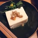 寺田本家 - 月の豆腐とお浸し  そばの実やさしいラー油